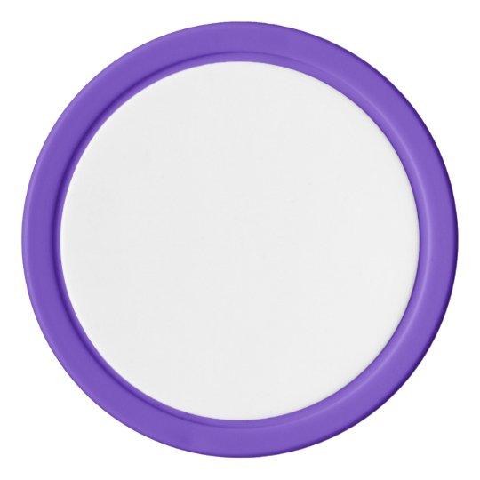 Jetons de poker en argile, Violet Bord couleur argent