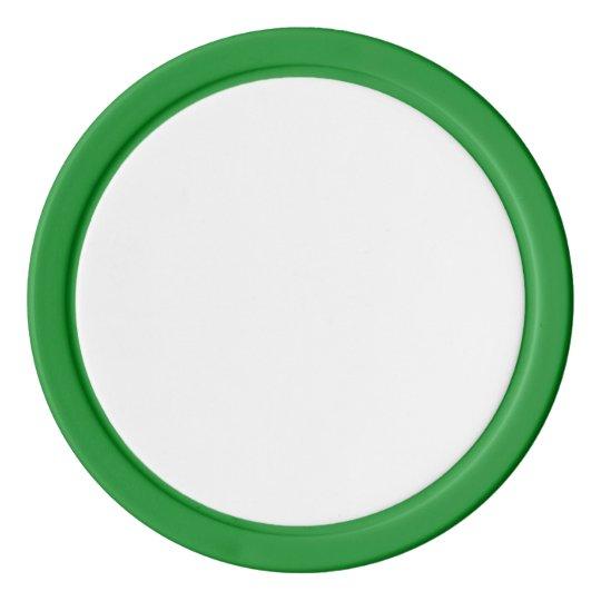 Jetons de poker en argile, Vert Bord couleur argent