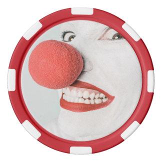 Jetons De Poker Clown rouge de nez