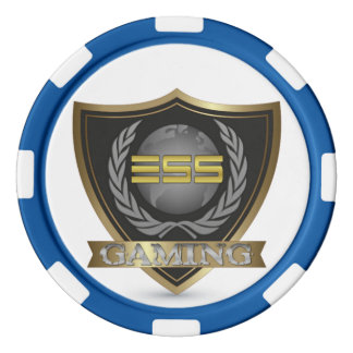 Jetons de poker d'argile de jeu d'ESS