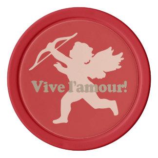 Jetons de poker de coutume de cupidon de Vive