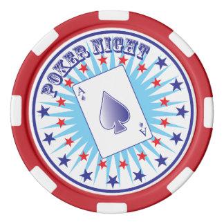 Jetons de poker de nuit de tisonnier