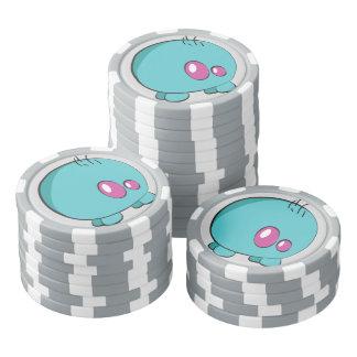 Jetons de poker faits sur commande cyan d'argile