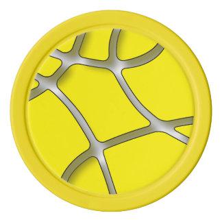 Jetons de poker jaunes d'argile de labyrinthe,