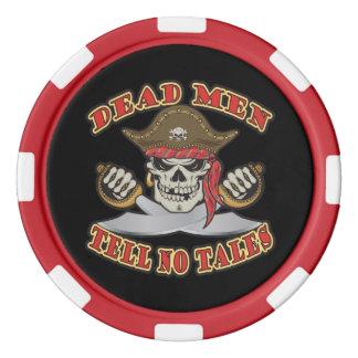Jetons De Poker Les hommes morts ne disent aucun conte