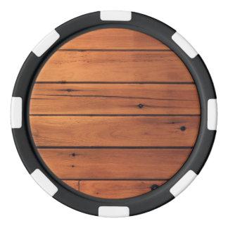 Jetons De Poker Mur en bois