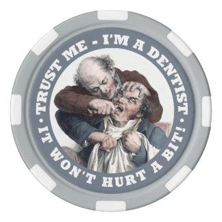 Jetons de poker nommés faits sur commande d'humour