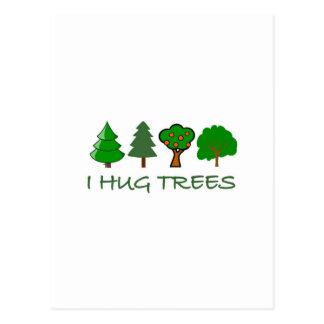 J'étreins des arbres carte postale