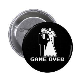 Jeu au-dessus de jeu de mariage au-dessus de T-shi Badges Avec Agrafe