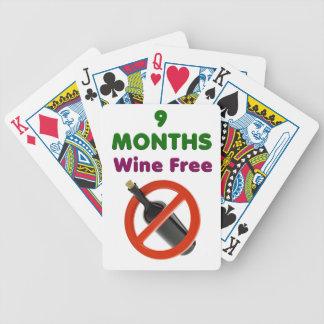 Jeu De Cartes 9 mois de vin libèrent, femme enceinte, bébé de