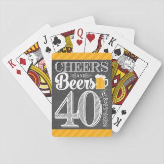 Jeu De Cartes Acclamations et bières à 40 ans de cartes de jeu