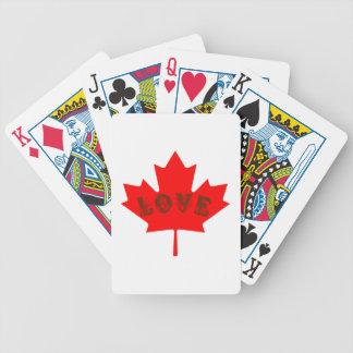 Jeu De Cartes aimez les cartes de jeu de feuille d'érable rouge