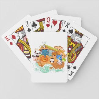 Jeu De Cartes Animaux sur des cartes de jeu d'art de Noahs