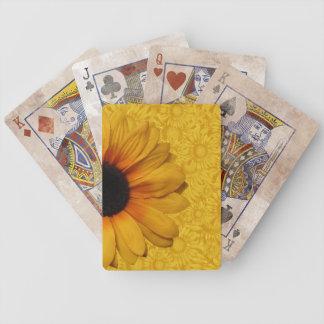 Jeu De Cartes Belles cartes de jeu jaunes de tournesols
