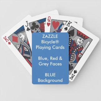 Jeu De Cartes Bicycle® fait sur commande bleu, cartes de jeu