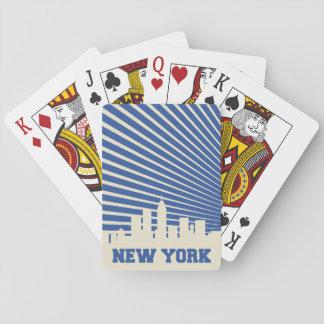 Jeu De Cartes Bleu de New York City
