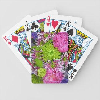 Jeu De Cartes Bouquet floral de rose et de vert