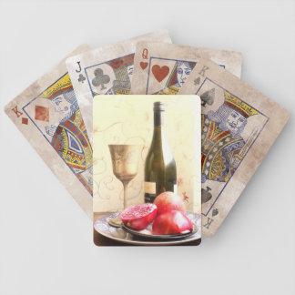 Jeu De Cartes Bouteille et grenades de vin
