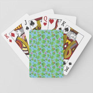 Jeu De Cartes Cactus je cartes de jeu d'extérieur (bleu) -