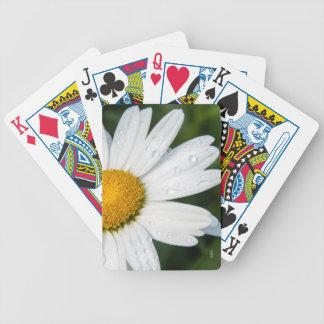 Jeu De Cartes carte à jouer photo, une margueritte, font vert