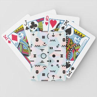 Jeu De Cartes Carte de jeu de motif de symbole de Memphis de