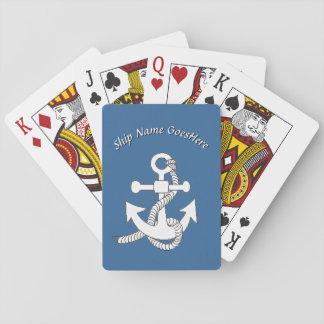 Jeu De Cartes Cartes de jeu - ancre de bateau avec le nom