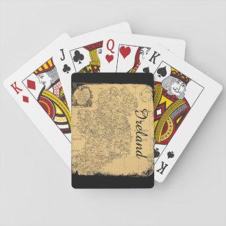 Jeu De Cartes Cartes de jeu antiques de carte de l'Irlande