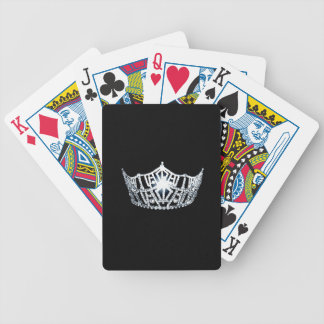 Jeu De Cartes Cartes de jeu argentées de couronne de Mlle