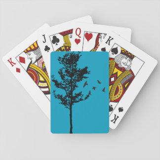 Jeu De Cartes Cartes de jeu d'arbre et d'oiseaux