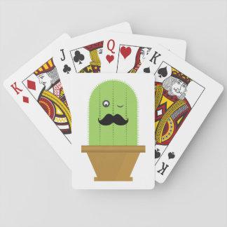 Jeu De Cartes Cartes de jeu de cactus de moustache