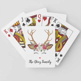 Jeu De Cartes Cartes de jeu de cerfs communs de Noël