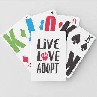 Jeu De Cartes Cartes de jeu de collecteur de fonds d'adoption
