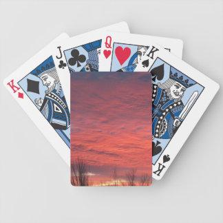 Jeu De Cartes Cartes de jeu de coucher du soleil