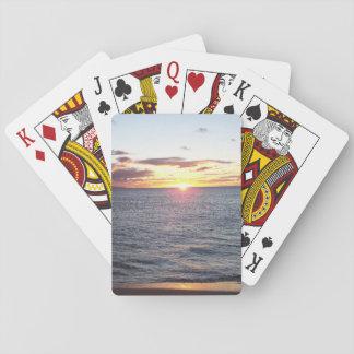 Jeu De Cartes Cartes de jeu de coucher du soleil de Maui