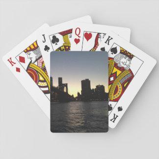 Jeu De Cartes Cartes de jeu de coucher du soleil de New York