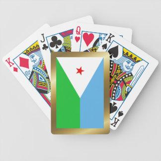 Jeu De Cartes Cartes de jeu de drapeau de Djibouti