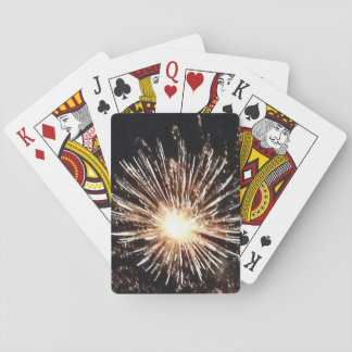 Jeu De Cartes cartes de jeu de feux d'artifice éclatant la