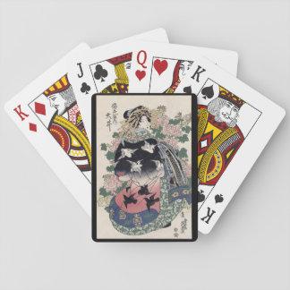 Jeu De Cartes Cartes de jeu de geisha d'Eisen Ukiyo-e