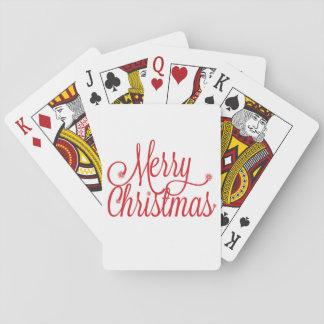 Jeu De Cartes Cartes de jeu de Joyeux Noël