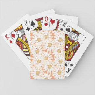 Jeu De Cartes Cartes de jeu de motif de marguerite