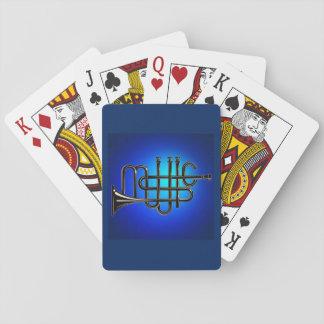 Jeu De Cartes Cartes de jeu de musique, visages standard d'index