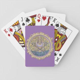 Jeu De Cartes Cartes de jeu de pentagramme de coucher du soleil