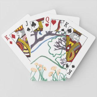 Jeu De Cartes Cartes de jeu de scène de nature, visages standard