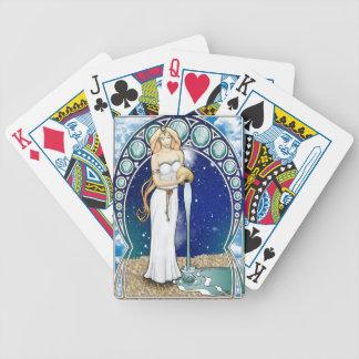 Jeu De Cartes Cartes de jeu de Verseau de Nouveau d'art