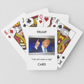 Jeu De Cartes Cartes de jeu d'image/citation de Donald Trump