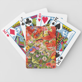 Jeu De Cartes Cartes de jeu d'oiseaux, de papillons et