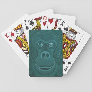 Jeu De Cartes Cartes de jeu d'orang-outan de Forest Green