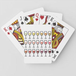 Jeu De Cartes Cartes de jeu en verre de vin