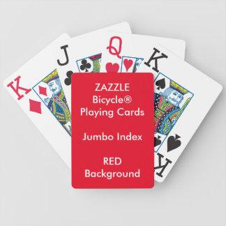 Jeu De Cartes Cartes de jeu enormes faites sur commande ROUGES