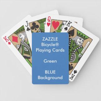 Jeu De Cartes Cartes de jeu faites sur commande BLEUES de vert